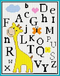Baby Room #Alphabet Cross Stitch
