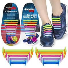 No Tie Shoelaces for Adults. Best Elastic Silicone Shoe Laces to Replace your Shoe Strings. Pimp your Shoes with Silicon Lock Laces by Diagonal One <b>MAKES ANY SNEAKER A COMFY SLIP-ON </b>- Diagonal One No Tie Shoelaces are made of Superstrong Silicone Elastic material that Offers You Comfortable Wearing Experience without any sense of tightening . <b>HIGHLY FASHIONABLE</b> - our Silicone Lock Laces allows you to Run or Walk With Style. Voted as Best New Replacement Shoe Laces 2015 ...