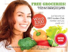 Enter to win the EatInEatOut magazine contest! Free Groceries, Fruits And Veggies, Cooking Recipes, Led, Magazine, Random, Breakfast, Check, Easy