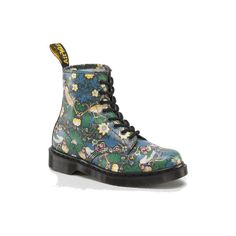 1460 ($130) ❤ liked on Polyvore featuring shoes, boots, ankle booties, doc martens, dr martens, print boots, dr. martens, pattern boots and dr martens boots