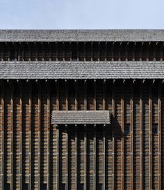 Hans Christian Hansen - Svanemølle Koblingsstation (electrical distribution facility), Copenhagen 1968. The timber cladding also served as the formwork for the concrete interior. Architect: Svanemølle Koblingsstation, Copenhagen