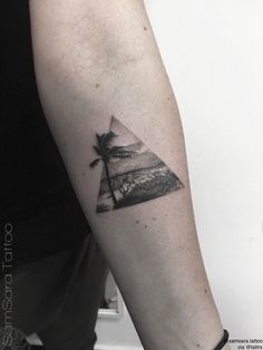 Beach triangle tattoo