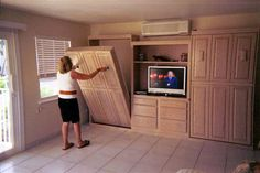 A  Murphy bed can save a lot of space and is a good DIY project