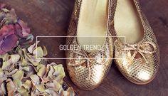 Golden Trend. Sabrinas de presenta las bailarinas doradas. // Golden Trend: Sabrinas introduce you the golden ballerines. #Sabrinas #Golden #Blog #Trend #Ballerines #MadeinSpain #SS14