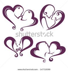 woman love, vector collection of lesbian couples - stock vector