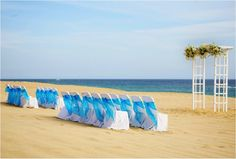 Private Beach area for wedding ceremonies. Weddings at Hotel Sandos Finisterra Los Cabos. #Mexico #Cabo #destionationwedding