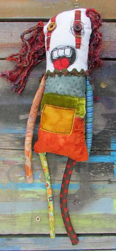 Abigail the red headed handmade monster art doll by monstermaud