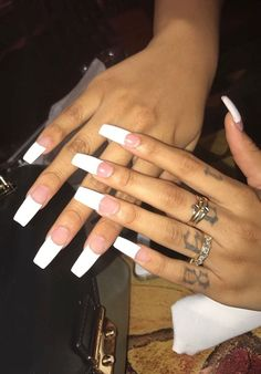 Nail Art Ideas To Dress Up Any Occasion – Your Beautiful Nails French Nails, French Tip Acrylic Nails, Summer Acrylic Nails, Cute Acrylic Nails, Gorgeous Nails, Pretty Nails, Nagel Hacks, Dope Nails, Square Nails