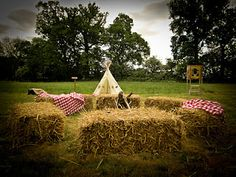 Cowboy & Indians party- Love the TeePee in the background!!!