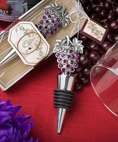 Vineyard Collection wine bottle stopper  favors