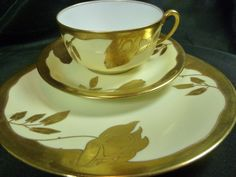 LIMOGES TEA CUP AND SAUCER TRIO