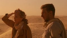 """Kristen Scott-Thomas and Ralph Fiennes - Scene from """"The English Patient"""" - 1996 Love Movie, Movie Tv, Le Patient Anglais, Safari, Joseph Fiennes, The English Patient, Kristin Scott Thomas, Juliette Binoche, Walk To Remember"""