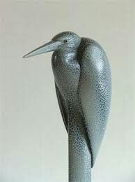 Anthony theakston ceramic of a hunched heron