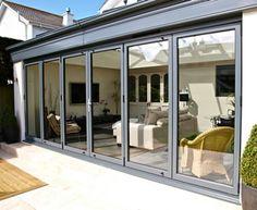 bi folding doors have secured by design accreditation for peace of mind that your doors are of a superior security level and each sliding panel is fitted with stainless steel rollers in the base for smooth sliding motions