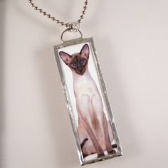 Cat Soldered Pendant  Siamese by XOHandworks on Etsy, $20.00