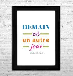 Carte d corative citation a6 un jour j 39 irai vivre en th orie parc - Mathieu lehanneur demain est un autre jour ...