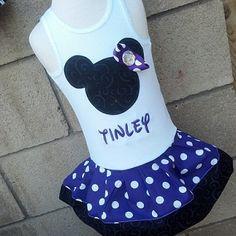 White & Purple Minnie Dress