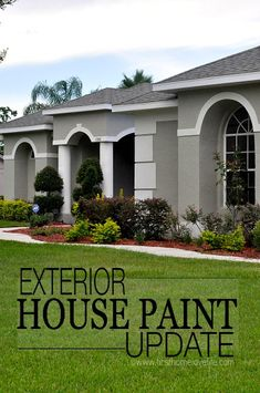 Getting Your Family Involved In Home Improvement Projects Stucco And Stone Exterior, Stucco Homes, Grey Exterior, Stucco House Colors, Exterior Paint Colors For House, Exterior Paint Sherwin Williams, Home Exterior Makeover, Mediterranean Style Homes, House Painting