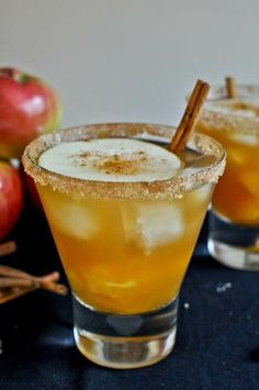 Apple cider margaritas. Absolutely delicious and perfect for the season.