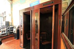 vintage wood telephone booth - Google Search