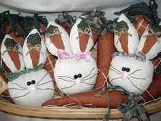 Bunny and Carrot Ornies, Easter & Spring Crafts