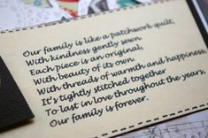 Family Quilt Quotes | ... quotes. And I found this cute little poem about family being like a