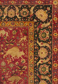 Kashan carpet, second half of 16th century; Safavid Iranian; Attributed to Kashan, Iran