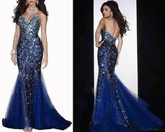 mermaid-gown-PROM-dresses-sweetheart-neckline-party-V-neck-formal-dress-sequins