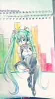 Miku - musical rhythm by Rina-from-Shire