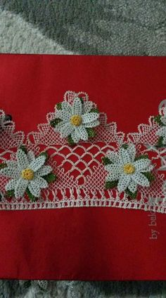 This Pin was discovered by Gül Crochet Decoration, Needle Lace, Lace Making, Bargello, Baby Knitting Patterns, Baby Dress, Crochet Baby, Knots, Projects To Try