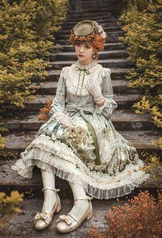 Cherry Bomb -The Letters of Vincent van Gogh- Lolita OP Dress Version),Lolita Dresses, Estilo Lolita, Mori Girl Fashion, Lolita Fashion, Kawaii Fashion, Cute Fashion, Moda Lolita, Looks Kawaii, Mode Geek, Dress Name
