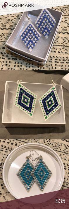 Seed bead earrings Handmade to order! Just choose your colors. Jewelry Earrings