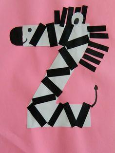 the vintage umbrella: Preschool Alphabet projects. Q-Z, Z is for zebra Alphabet Letter Crafts, Abc Crafts, Preschool Letters, Learning Letters, Alphabet Activities, Preschool Activities, Crafts For Kids, Letter Art, Kids Learning