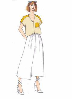 Shirt Olga, ideal zum Patchen von Jersey und Seide/Polyester