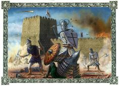 Teutonic knights in combat