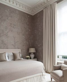 While glittering living rooms and blinding entryways are often the rule, Luxury Master Bedroom interior design is more restrained. Wallpaper Bedroom, Interior Design, Bedroom Interior, Home, Bedroom, Remodel Bedroom, Interior, Home Bedroom, Furniture