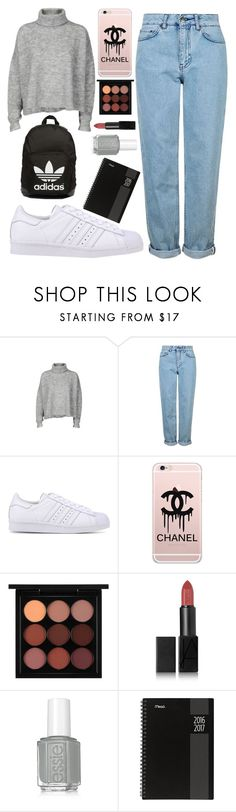 """""""fall 10》"""" by beautybyee ❤ liked on Polyvore featuring Designers Remix, Topshop, adidas Originals, Chanel, MAC Cosmetics, NARS Cosmetics, Essie and Mead"""
