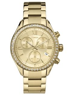 Timex® Elevated Classic Womens Chronograph Two-Tone Stainless Steel Bracelet Watch - JCPenney Stainless Steel Watch, Stainless Steel Bracelet, Sport Watches, Watches For Men, Wrist Watches, Boyfriend Watch, Timex Watches, Michael Kors Watch, Gold Watch