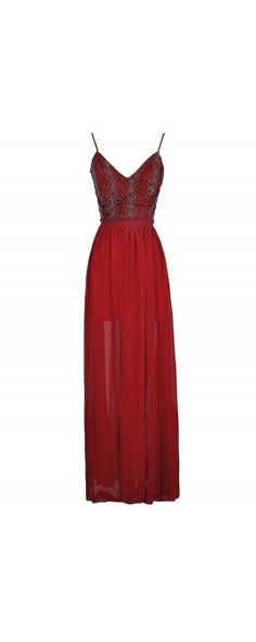 Another Dimension Textured Embellished Open Back Maxi Dress in Burgundy  www.lilyboutique.com