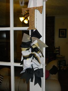 SM Cheer Bow Holders Custom Made. $10.00, via Etsy.