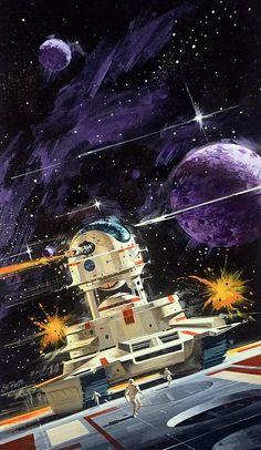 Bolo Cover Art by Vincent Di Fate Fantasy Kunst, Sci Fi Fantasy, Sci Fi Genre, Sci Fi Kunst, Science Fiction Kunst, 70s Sci Fi Art, Arte Tribal, Classic Sci Fi, Retro Futuristic