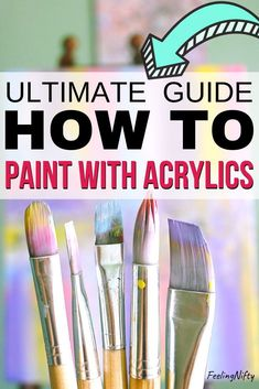 How To Use Acrylic Paint: The Ultimate Guide and Tips for Beginners. Learn the basics of acrylic paints on canvases. Find the right project to start off witg. From DIY abstract painting ideas, to a…More Acrylic Paint Brushes, Acrylic Painting For Beginners, Acrylic Paint Set, Simple Acrylic Paintings, Acrylic Painting Techniques, Beginner Painting, Painting Videos, Acrylic Painting Canvas, Diy Painting