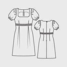 yo elijo coser: Patrón gratis: vestido Danielle de Burda (otra nueva versión)