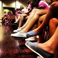 Delta Gamma wearing TOMS for Philanthropy Day
