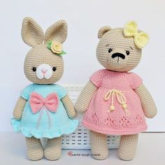 Amigurumi crochet patterns continue to meet you. Everything you are looking for in Amigurumi can be found on our site. Crochet Animal Amigurumi, Knitted Animals, Crochet Animal Patterns, Crochet Bear, Cute Crochet, Crochet For Kids, Amigurumi Doll, Amigurumi Patterns, Crochet Toys