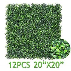 Sunnyglade 12 Pieces 32 Square Feet Artificial Boxwood Panels Topiary He. Artificial Hedges, Artificial Boxwood, Artificial Plants, Artificial Turf, Lawn And Garden, Indoor Garden, Outdoor Gardens, Fence Garden, Indoor Outdoor