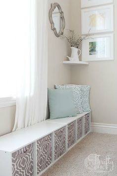 Hide a cute play area in your living room without it looking like a mess! Place it behind a sofa out of sight. By living room window Living Room Decor, Bedroom Decor, Bedroom Storage, Playroom Storage, Dining Room, Bedroom Furniture, Living Room Toy Storage, Baby Bedroom, Kitchen Storage