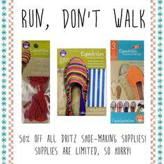 Get OFF of all espadrille and shoe-making supplies from Espadrille Shoes, Espadrilles, 50th, Promotion, Crafting, Sewing, Kids, Espadrilles Outfit, Young Children