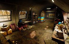 Escape Room Themes, Bunker Home, Messy Art, Bedroom Setup, Roman, Character Home, Fantasy Setting, Unreal Engine, Environment Concept Art
