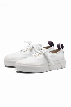 EYTYS (pronounced 80s) Mother Canvas Platform Sneakers - White.